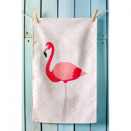Полотенце рогожка 35x61 Spany Home Flamingo