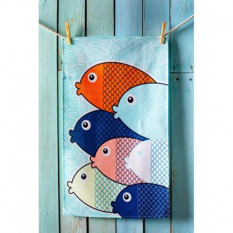 Полотенце вафельное 35x61 Spany Home Fish