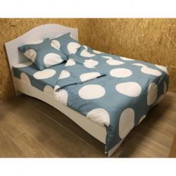 Постельное белье бязь Spany Home Dots бирюзовый 2-сп(70X70)