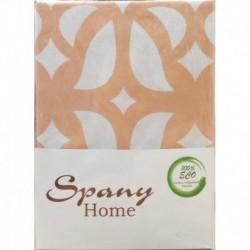 Постельное белье бязь Spany Home Tracery персиковый 1,5-сп(50X70)
