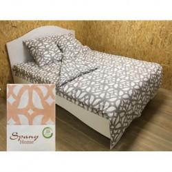 Постельное белье бязь Spany Home Tracery персиковый 1,5-сп(70X70)