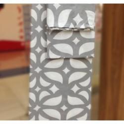 Постельное белье бязь Spany Home Tracery серый 1,5-сп(50X70)