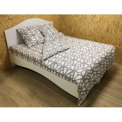 Постельное белье бязь Spany Home Tracery серый 2-сп(50X70)