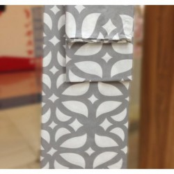 Постельное белье бязь Spany Home Tracery серый 2-сп(70X70)