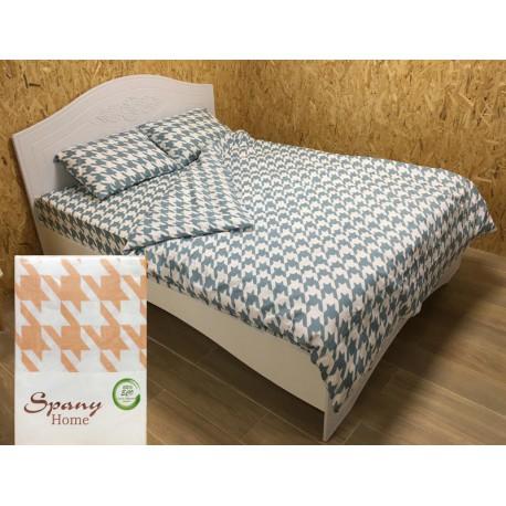 Постельное белье бязь Spany Home Jone персиковый 2-сп(50X70)