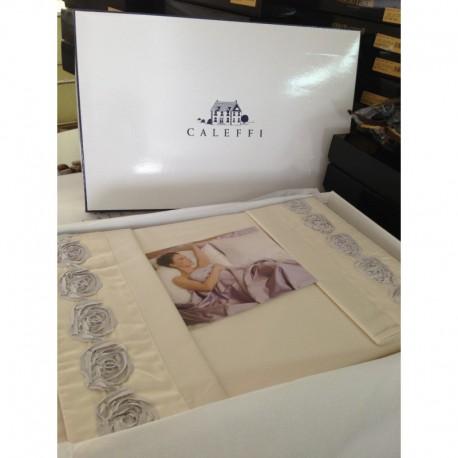 Постельное белье макро-сатин Caleffi New Romantic Евро