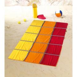 Полотенце пляжное 100x160 Gozze Karo rot