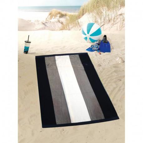 Полотенце пляжное 100x160 Gozze Streifen anthrazit