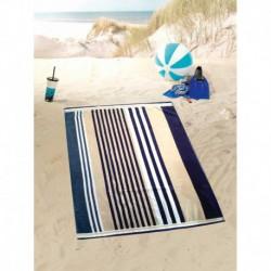 Полотенце пляжное 100x160 Gozze Streifen blau/beige