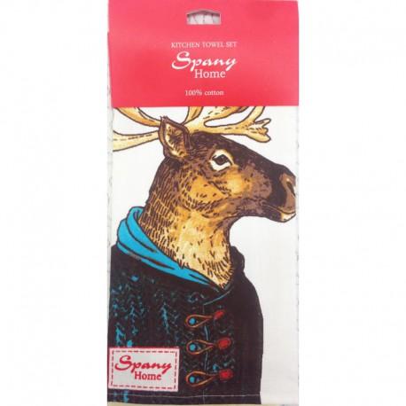 Набор из 2-х кухонных полотенец Spany Home Elk