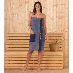 Полотенце-накидка на пуговице Sauna sarong